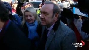 Actor Kevin Spacey enters Nantucket courthouse to be arraigned on sexual assault charge